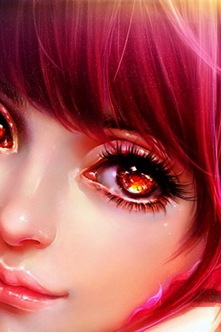 Girl With Fiery Eyes