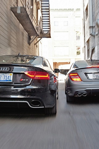 Audi Rs5 And Mercedes Benz C63 Amg