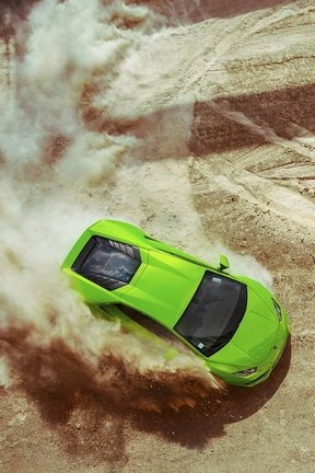 Lamborghini Huracan Lp640 Green Drift