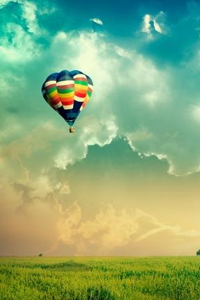 하늘에서의 풍선