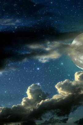 Clouds, Sky, Stars