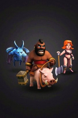 Clash Of Clan Hog,minion,valkyrie