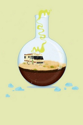 Fondo de pantalla de Apple Breaking Bad Illust IPhone5 Parallax