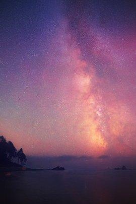 Nachthimmel Sterne fallen