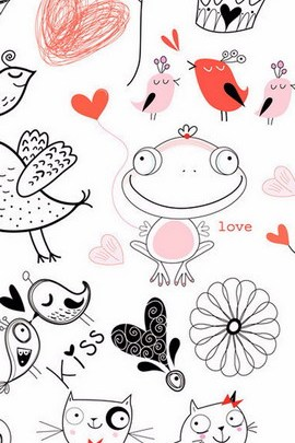 Romantic vintage Seamless Pattern Cute