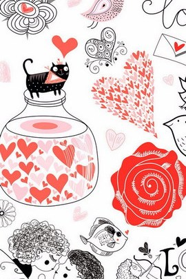 Romantic vintage Seamless Pattern Cute