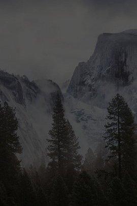 Snow Black Mountain