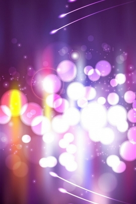 Abstract Purple Circle Bokeh