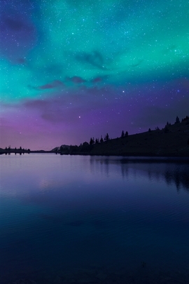Night Fall At Lake Aurora I