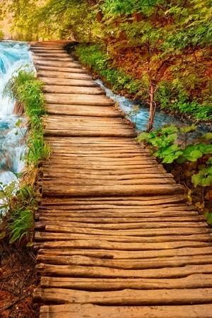 عبور جسر الخشب