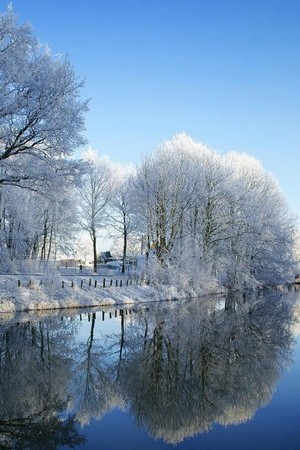 Lake White Mirror