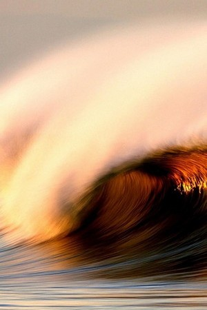 Sunset Ocean Wave view