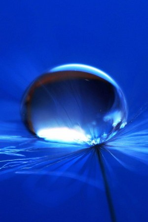 Blue Big Water Drop