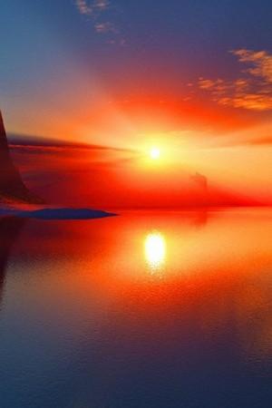 الشمس المشرقة انعكاس