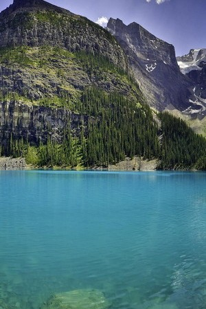 Mountain Green With Blue Water