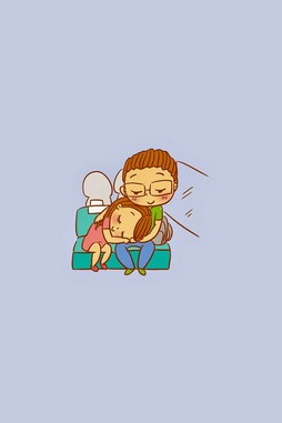 Emotion Cartoon Couple