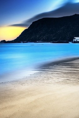 Beautiful Blue Water In The Night