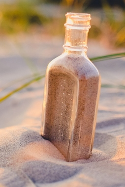 Beach Bottle Sand