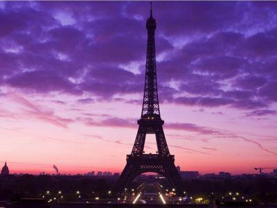 Purple Tour Eiffel Paris France Fond D écran Télécharger