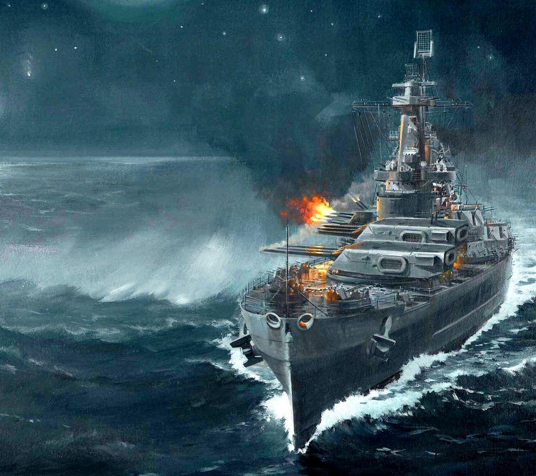 戦艦戦闘艦隊軍事芸術絵画壁紙 Phonekyから携帯端末にダウンロード