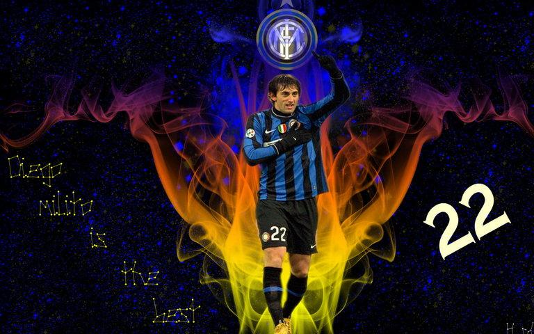 Diego Milito Serie A Argentina Inter Sfondo Scarica Sul Tuo