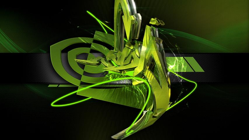 Nvidia Graffiti Yeşil Siyah Çizgiler