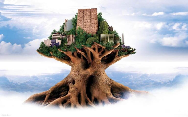 Abstract Tree City