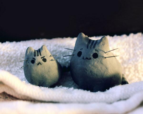 Pusheen Koty W łóżku Tapeta Pobierz Na Telefon Z Phoneky