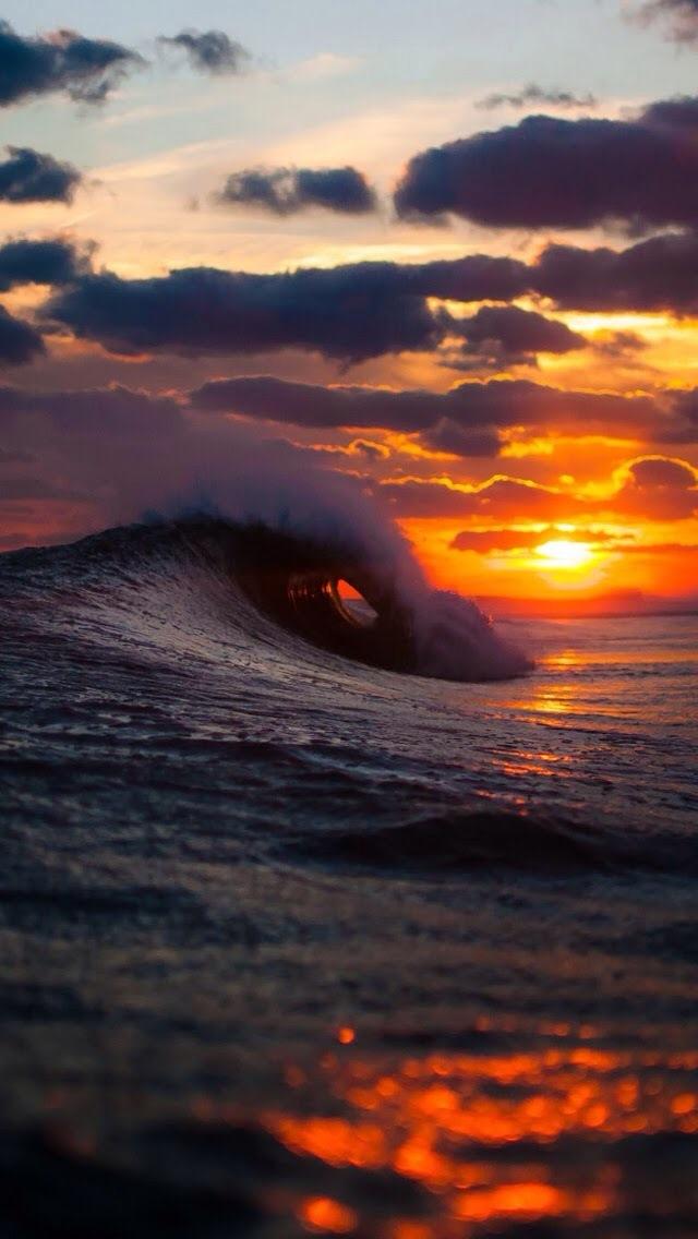 Wave Sunset Sfondo Scarica Sul Tuo Cellulare Da Phoneky