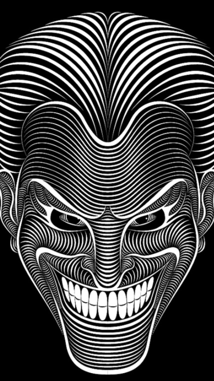The Joker Black And White Abstract Wallpaper Download To Your