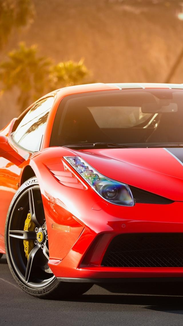 Italian Sports Car Ferrari Red Wallpaper Download To Your Mobile