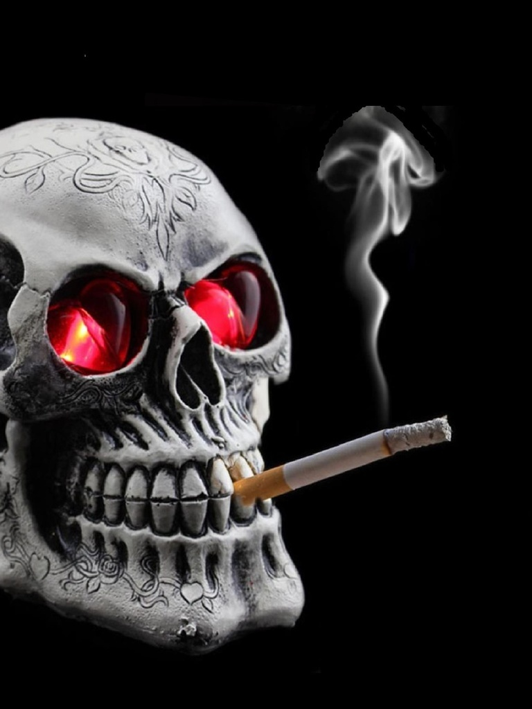 Smoking Skull Wallpaper Download To Your Mobile From Phoneky
