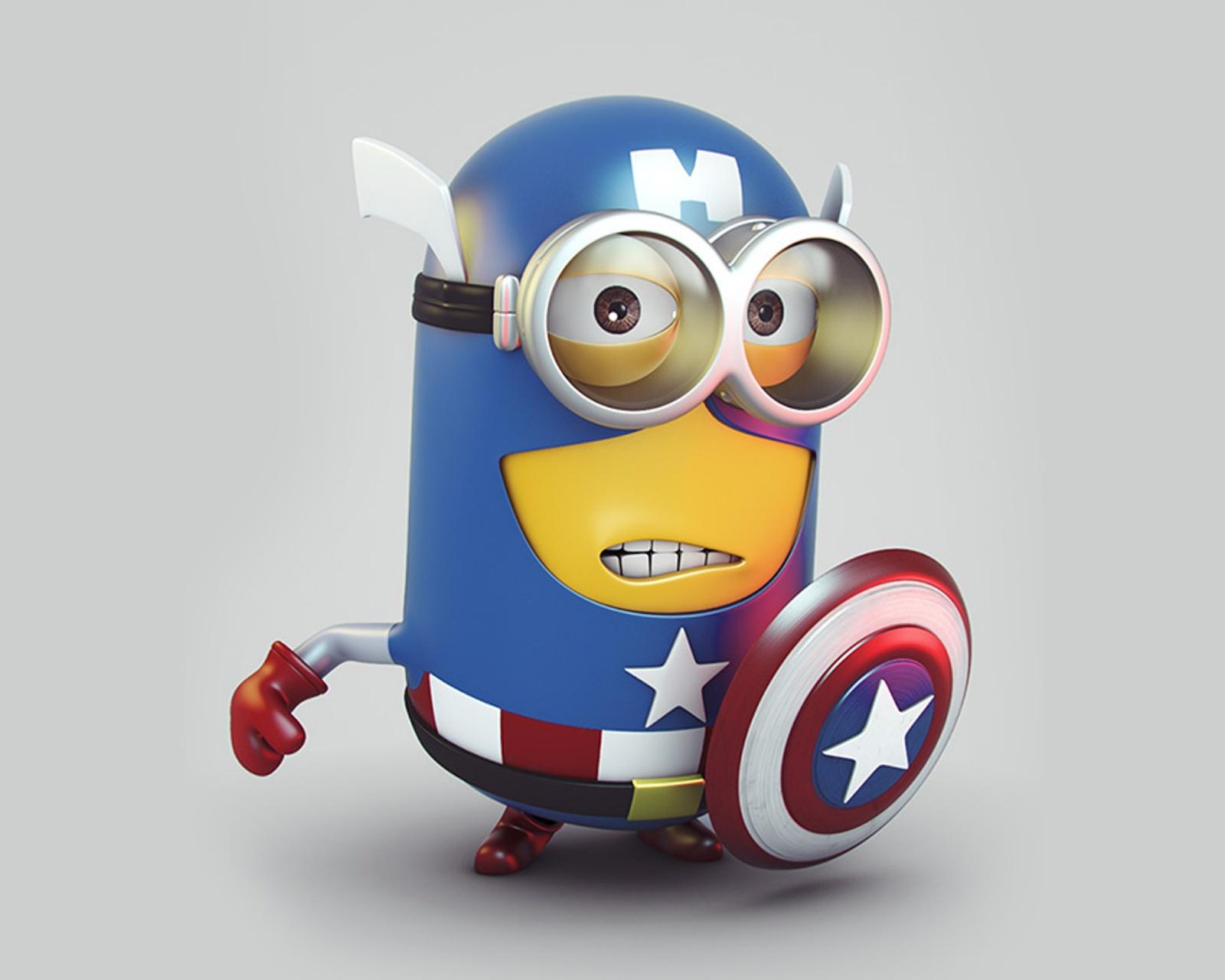 Kapten Minion Amerika Wallpaper Muat Turun Telefon Bimbit Phoneky Gambar