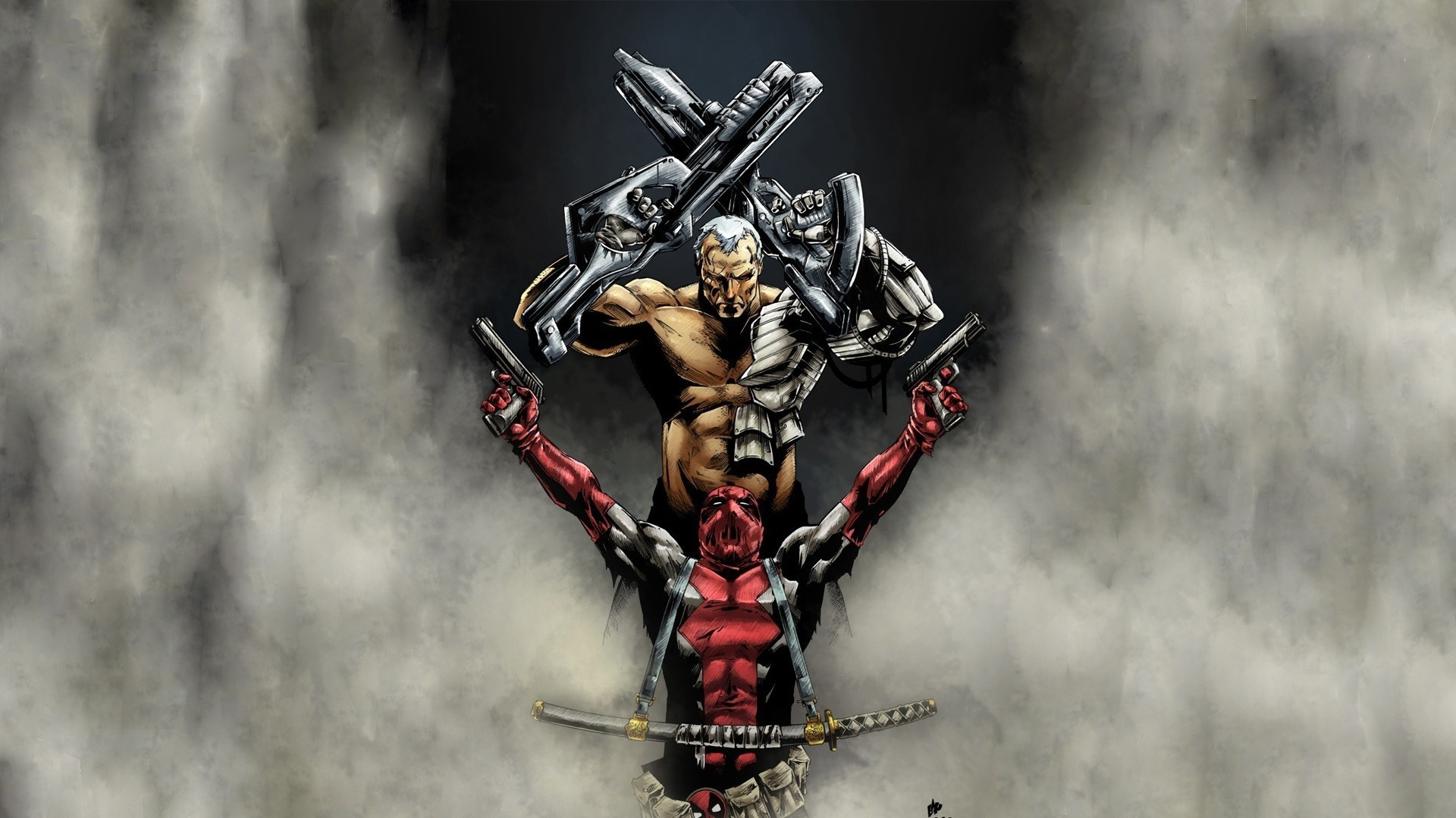 Cable Darme De Deadpool Superheros Spiderman Fond Decran