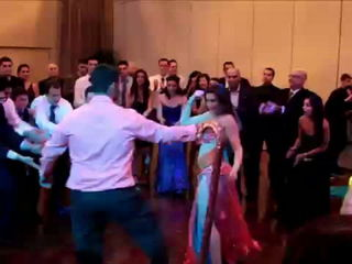 Belly Dance Show at a Wedding - Drum Solo Performance