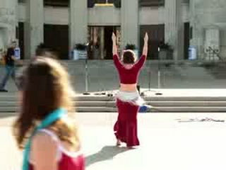 Hot Sensational Arabic Belly Dance on road