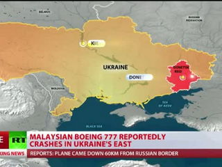 Malaysian airliner crashes in E. Ukraine
