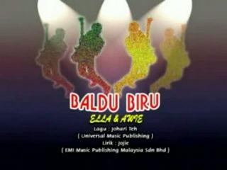 Baldu Biru - Ella Feat Awie (HD-Karaoke-HiFiDualAudio)