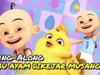 Upin & Ipin - Ibu Ayam Dikejar Musang [Sing-Along][HD]