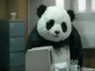 Advertising cheese Panda