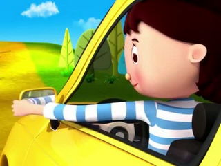 Driving In My Car Song - Nursery Rhymes