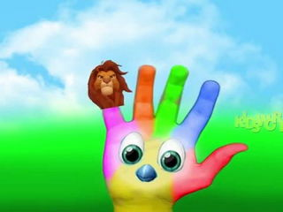 Lion Cartoon Finger Family Nursery Rhymes