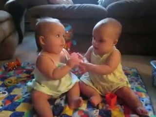 Twins fighting over cell phone