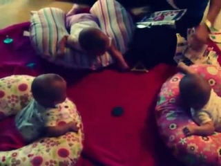 Funny Triplet Babies Laughing