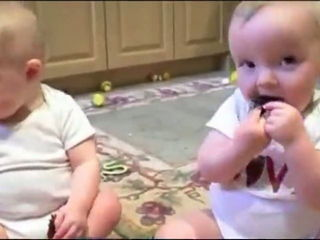 Babies Mock Dad's Sneeze