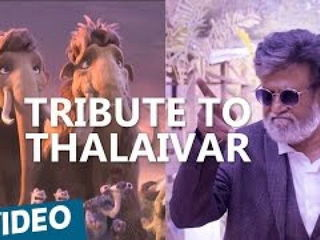 Tribute To Thalaivar from Ice Age 5 - Kabali
