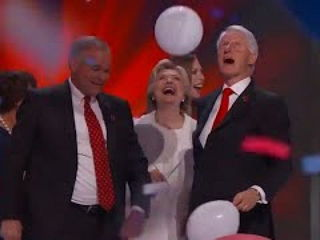 Bill Clinton Plays with Balloons