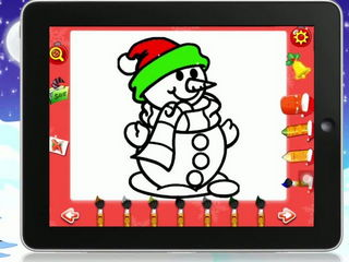 Christmas Kids Coloring Book - iOS Android Gameplay Trailer By Gameiva