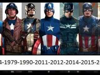 Captain America Through Years 1944-1979-1990-2011-2012-2014-2015-2016