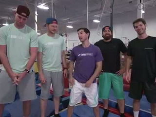 Trampoline Charades Team Battle - Dude Perfect